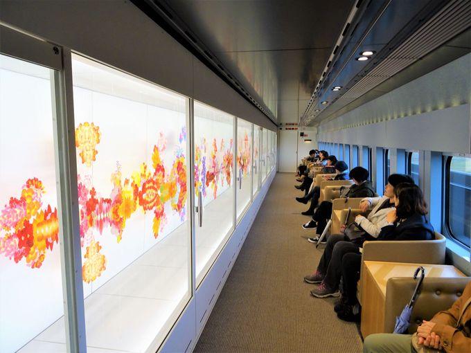 現美新幹線には新潟にまつわるアートも