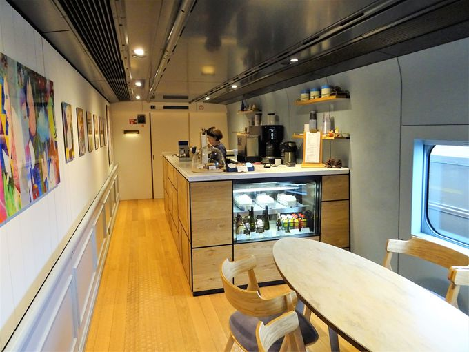 現美新幹線のカフェでは新潟の味が