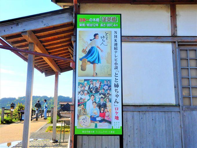 蓬莱橋は、牧之原台地と島田の町を結ぶ貴重な生活道路