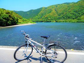 さあ四万十の風になれ!四万十川サイクリングは乗り捨てOKで安心