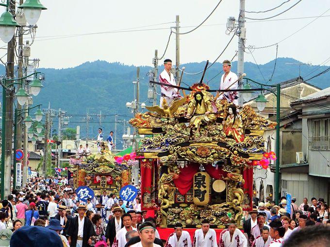 山あげ祭の必見シーン、屋台お囃子の競演「ブンヌキ」
