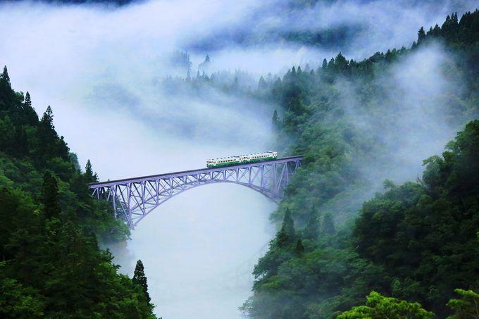 只見線撮影地#1 聖地、只見川第1橋梁展望台