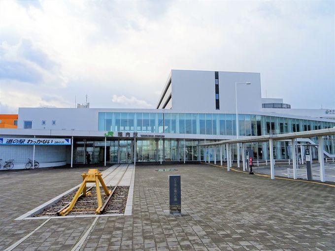 朝:稚内観光スタートは日本最北稚内駅から北防波堤ドームへ