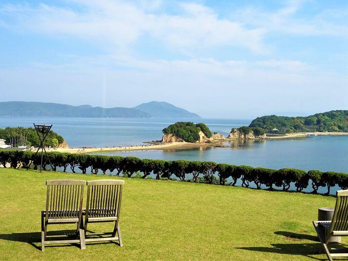 「天空ホテル海廬」は高台からのエンジェルロード眺望が魅力