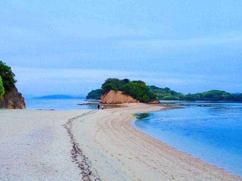 小豆島エンジェルロードの楽しみ方!恋人の聖地は朝と夕方