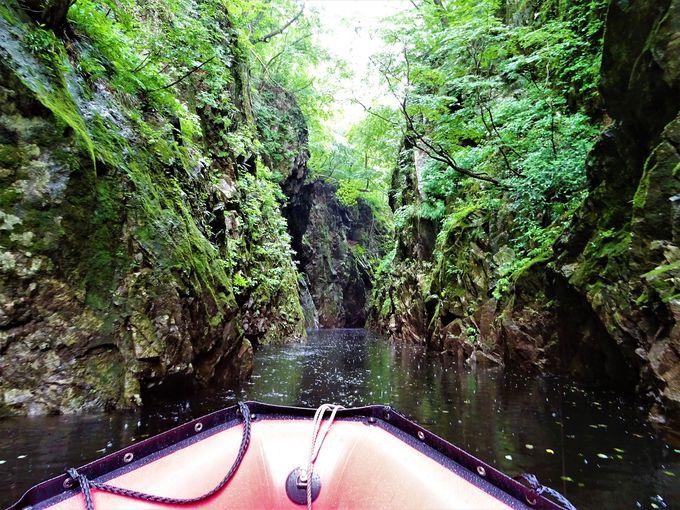 いよいよ三淵渓谷ボートツーリング乗船!
