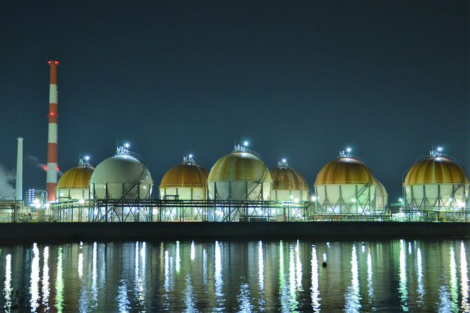 まずは徳山駅徒歩圏内の3つの工場夜景鑑賞スポットへ