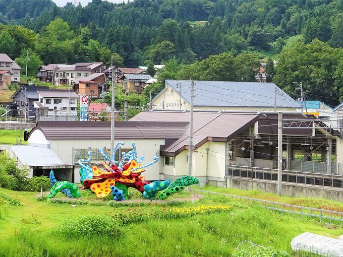 「まつだい駅」には越後妻有・大地の芸術祭のアート作品も