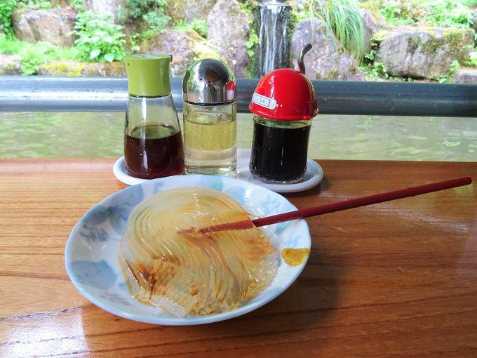 いざ、一本箸で日本一うまいところてんにチャレンジ
