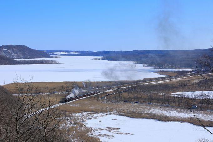 SL冬の湿原号の撮影スポット