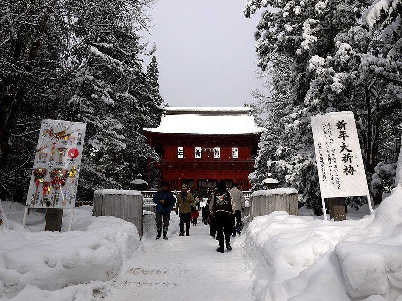 謹賀新年、岩木山神社のパワースポットのご利益を受けたい!