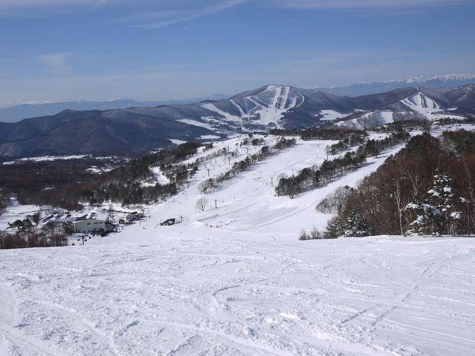 1つのスキー場が3つ合わさったような広大なゲレンデ!