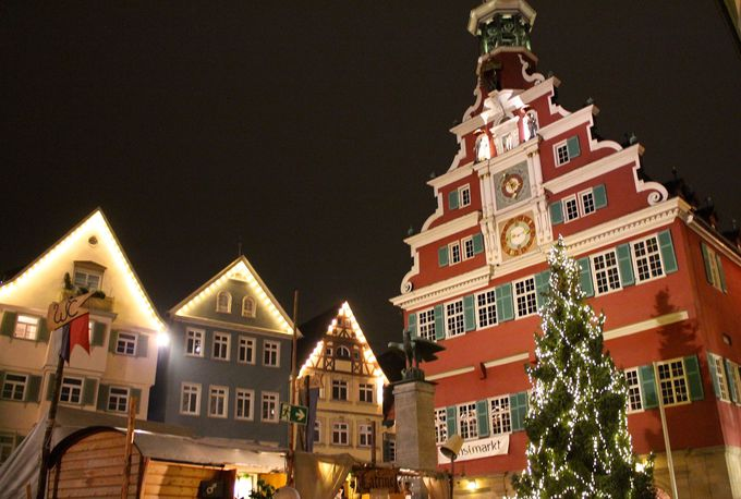 木組の家並みが美しいネッカー河畔の街、エスリンゲン<Esslingen>