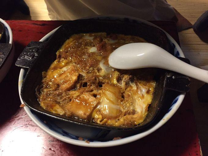 シメは白いご飯にかけて食べる親子丼!