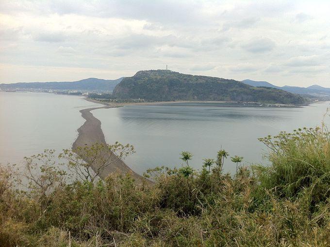 知林ヶ島の展望台から本土を眺めると・・・