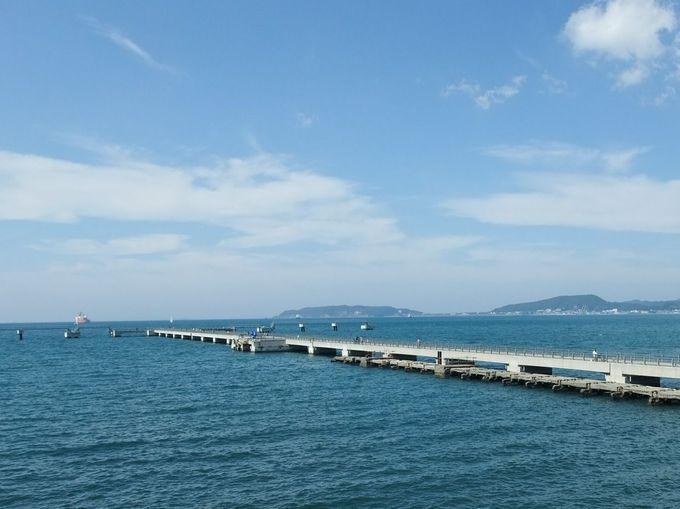 「展望デッキ」から、「館山夕日桟橋」と海を独り占め!