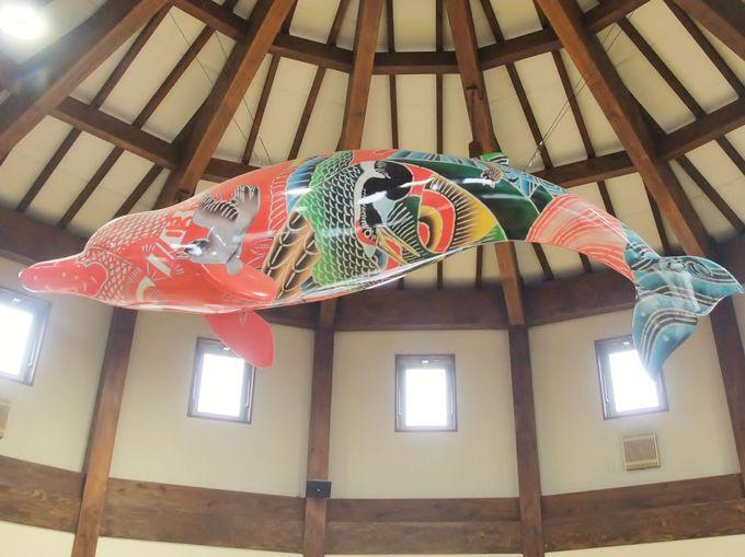 カラフルな空飛ぶ鯨!道の駅「和田浦WA・O!」