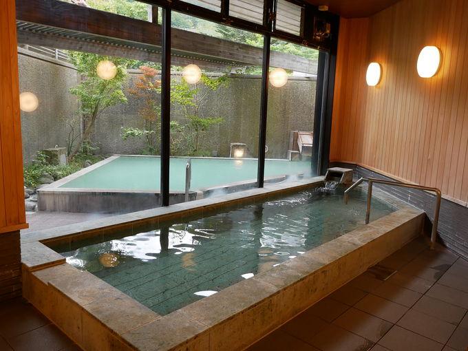 日光で唯一!硫黄泉&アルカリ単純泉、二つの泉質を楽しめる天然温泉!
