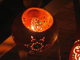 益子「ひょうたんの灯りルーム」は、幻想的な光が織りなすメルヘンの世界!