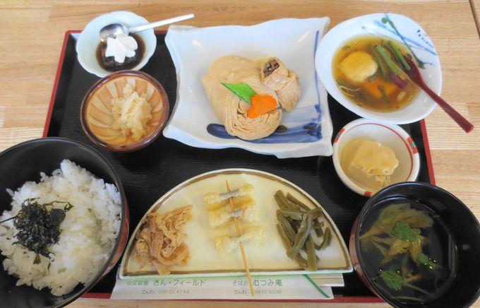 本格湯波料理が味わえる喫茶店・さんフィールドの<ゆばの御膳>!