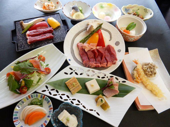 お味も量も大満足の美味しい夕食!