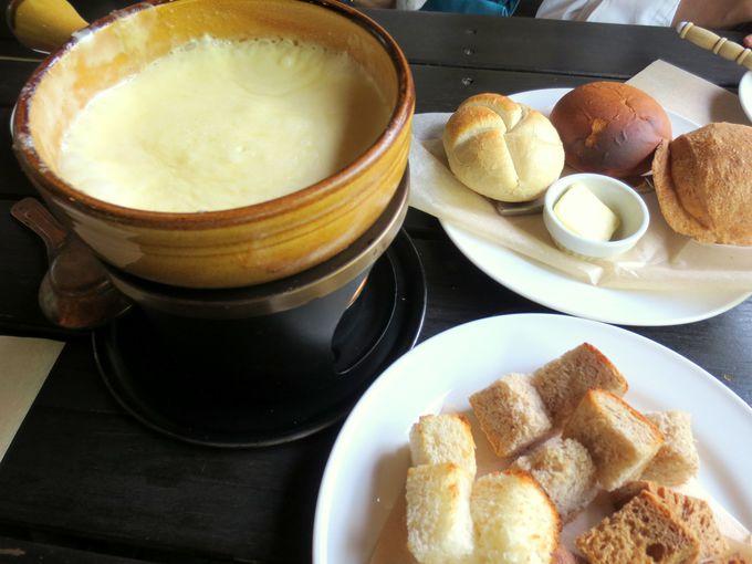 ヨーロッパ本場の味と、那須高原の味が集結!チーズフォンデュがたまらない!