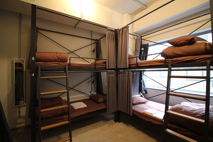 客室はドミトリーからステキなダブルルームまで