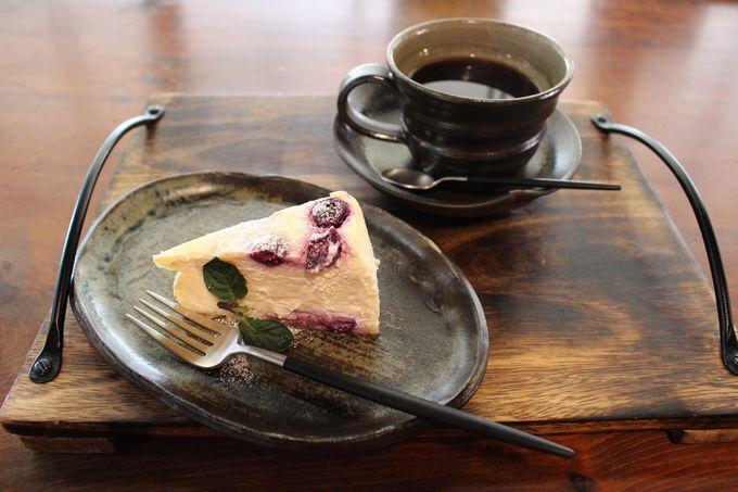 お洒落な古民家カフェ「分家玉や」では美味しいケーキを!