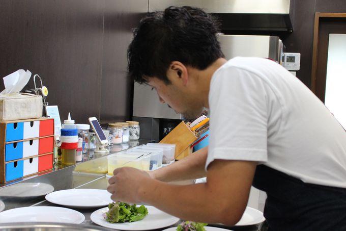 上田シェフと地元農家の連携で生み出される新鮮野菜。