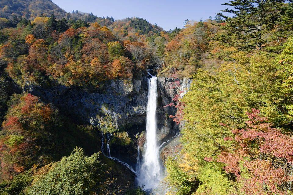 2日目午前:朝一番は順光の華厳の滝を狙おう!