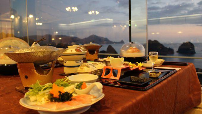 2日目午後:絶景「堂ヶ島ニュー銀水」美味尽くし&サンセットロードを堪能