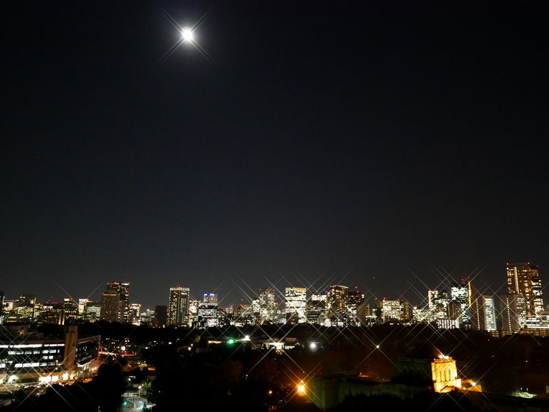 青空も夕焼け空も、お月さまも夜景も独占!