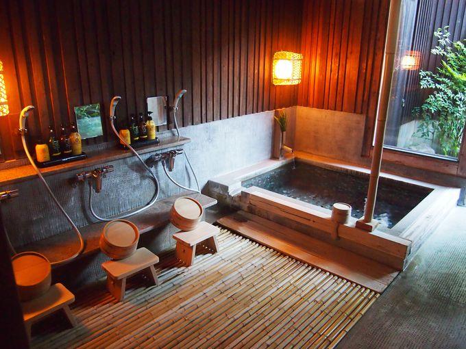 内風呂、貸切り風呂で家族みんなで仲良く入浴