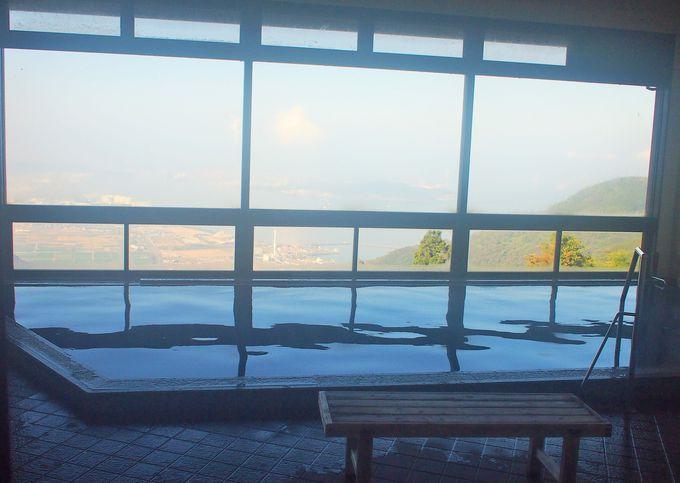 瀬戸大橋の絶景を眺めることができる大浴場