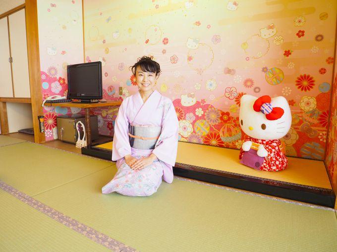「ゆのごう美春閣」のハローキティルームは限定2部屋!