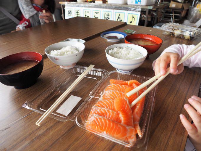 """100円で""""炊き立てご飯""""と""""あら汁""""が食べられます"""