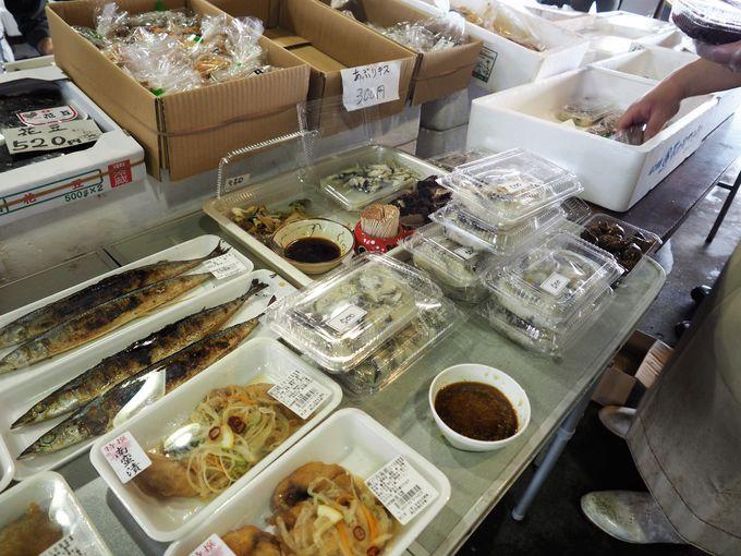 惣菜、焼きたて穴子、野菜や果物まで