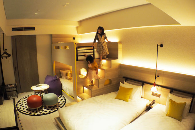 限定10部屋のファミリールームは二段ベッド付き!