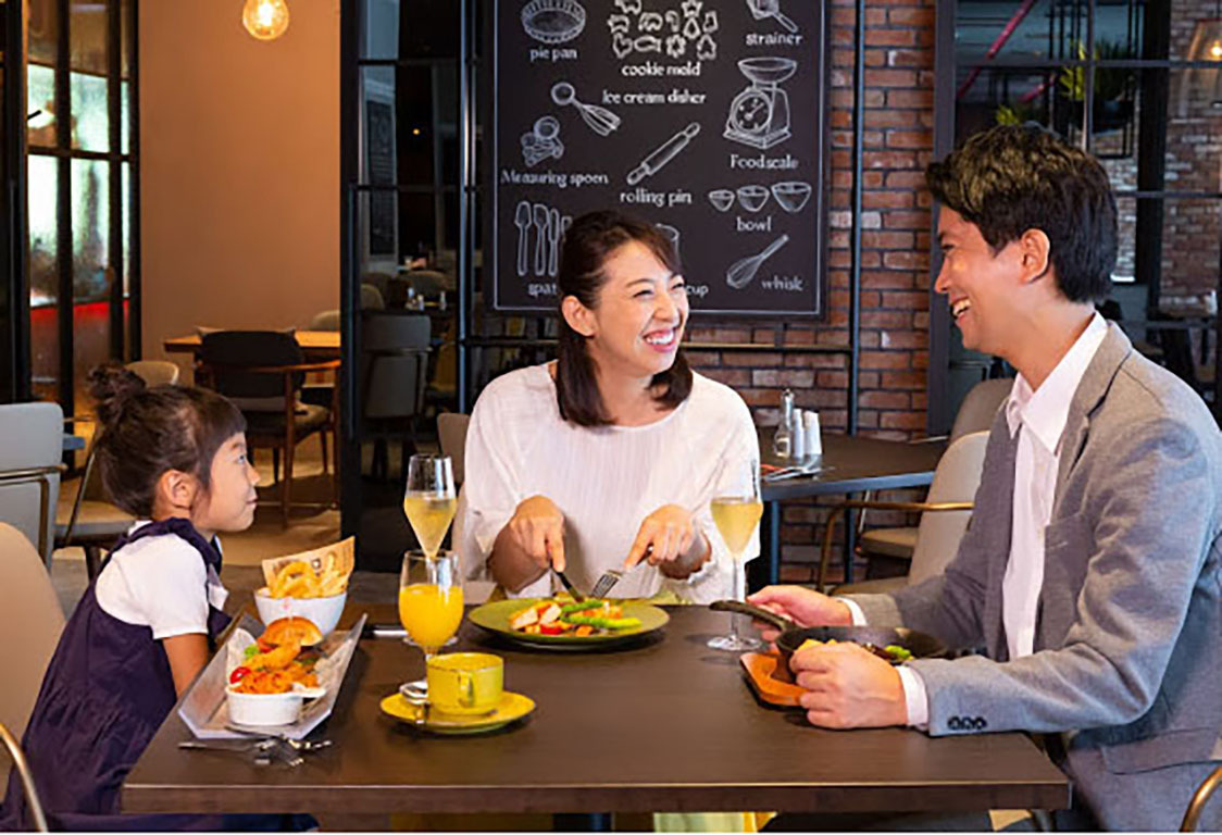 レストランで子供もママも大満足