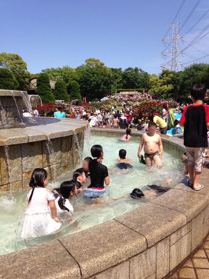 子供たちの噴水プール!