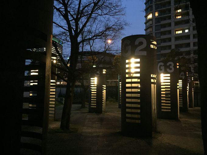 驚きの仕掛けが満載!夜景が素晴らしい「ポートサイド公園」
