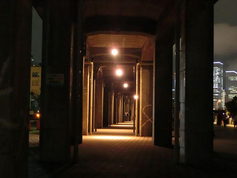 夜が待ち遠しい!横浜「臨港線プロムナード」沿いは幻想的ライトアップの連続