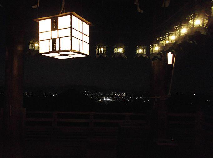 さらに、二月堂へ ここは夜景のベストスポット!