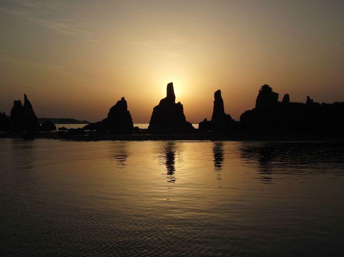 日の出の風景は刻々と変化する天然色のショータイム!