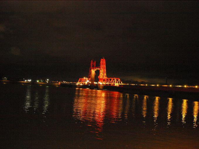 重要文化財にも指定された筑後川昇開橋