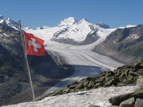 世界遺産のアレッチ氷河!スイス・エッギスホルン展望台からの絶景