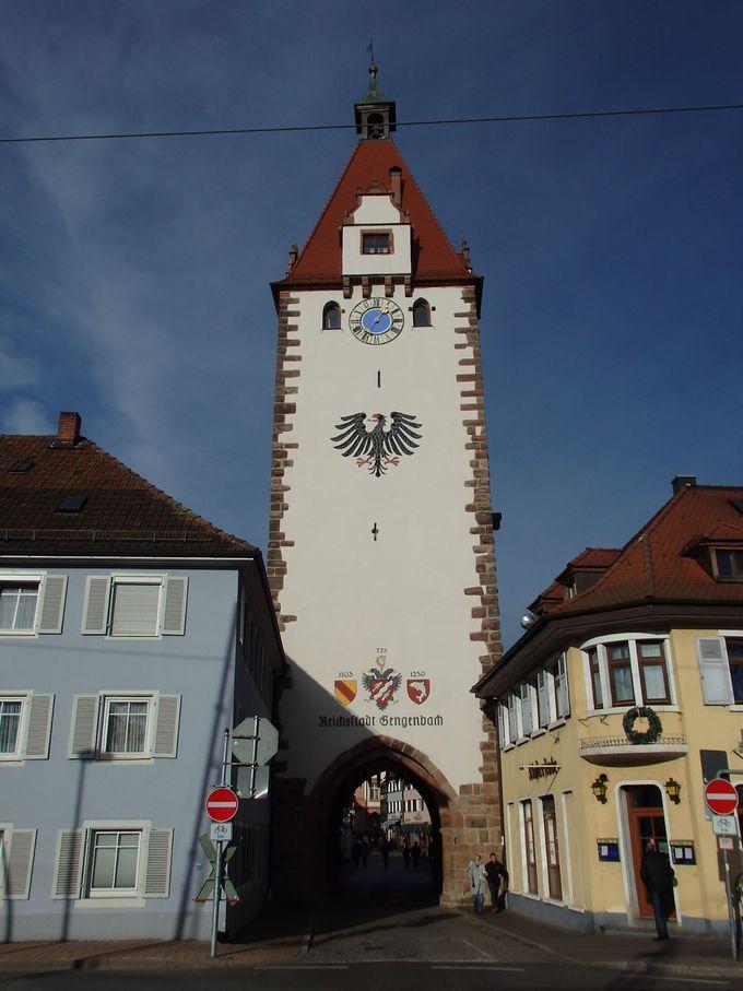 町で一番高い塔は博物館も兼ねるキンツィヒの塔