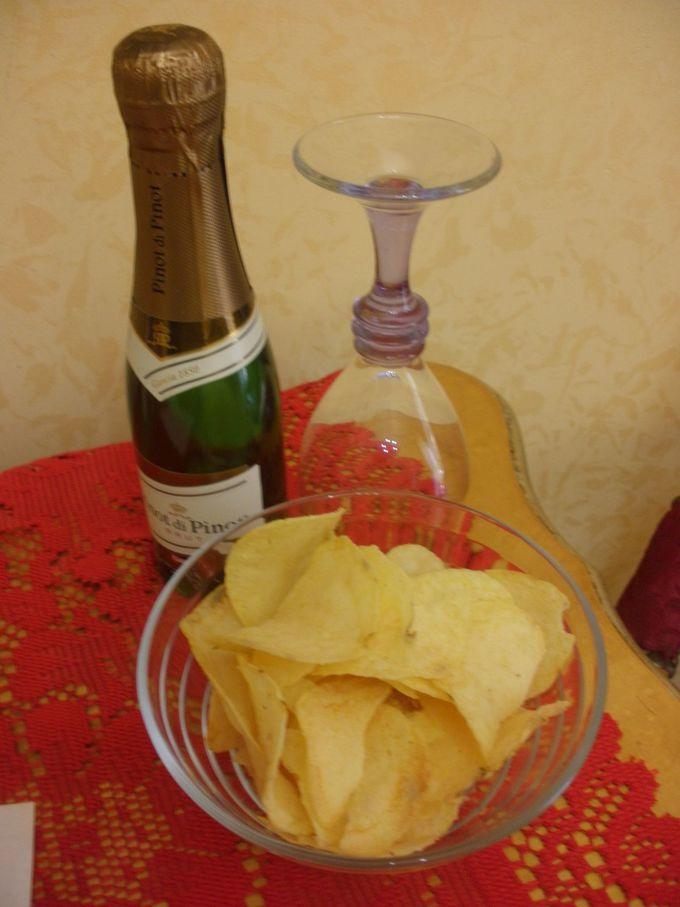 ウェルカムドリンクはスパークリングワイン!