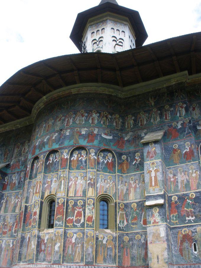 「五つの修道院」の中では最大規模のスチェヴィツァ修道院