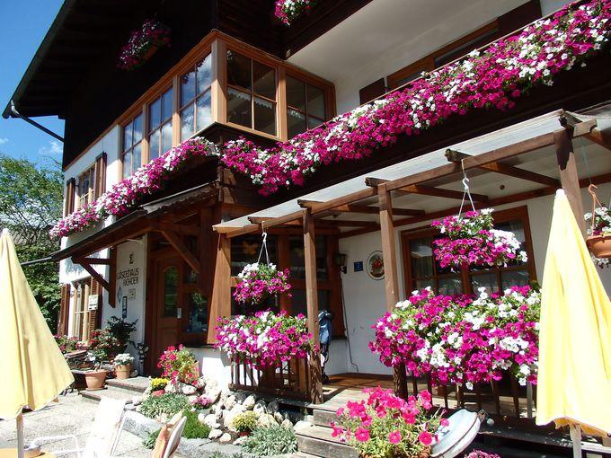 お花溢れるゲステハウス・リヒター